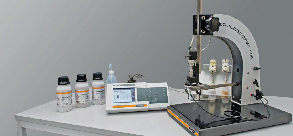 COULOSCOPE CMS2 をV18測定スタンドに設定した測定セット